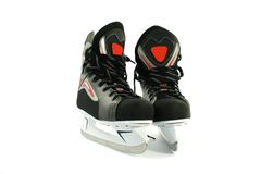 New skates isolated on white Stock Photos