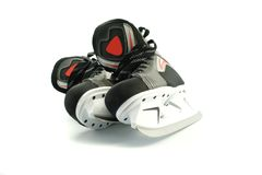 New skates isolated on white Royalty Free Stock Photo