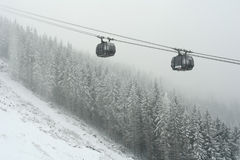 New ski lift. Royalty Free Stock Images