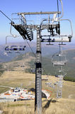 New ski  lift under construction Stock Images