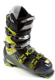 New ski shoe in metallic earring Stock Image