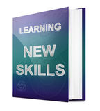 New skills concept. Illustration depicting a book with a new skills concept title. White background Royalty Free Stock Photos
