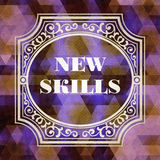 New Skills Concept. Vintage design. Royalty Free Stock Photos