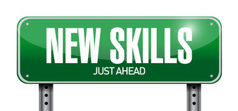 New skills road sign illustration design Stock Photography