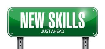 New skills road sign illustration design vector illustration