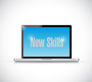 New skills sign on a computer illustration design. Over a white background Stock Images