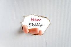 New skills text concept Royalty Free Stock Photos