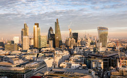 The new skyline of London at sunset time Stock Image