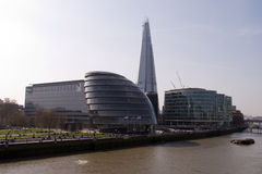 A new skyscraper. A new sky scraper in London. Close to the river Thames Royalty Free Stock Photo