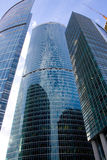 New skyscrapers in Moscow city business center Stock Photos