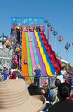 The New Slide. At the Sydney Royal Easter Show April 2012 stock photo