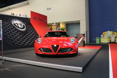 New small alfa romeo sportscar on display Royalty Free Stock Image