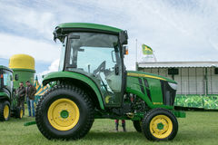 New small John Deere 3045r Tractor at show Royalty Free Stock Image