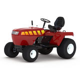 New small red tractor  over white. 3D illustration Royalty Free Stock Photography
