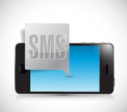 New sms and smartphone illustration design Royalty Free Stock Photography