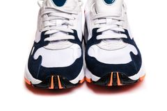 New sneakers isolated on white background stock images