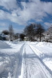 New Snow. Follow the path carved in the newly fallen snow Royalty Free Stock Image
