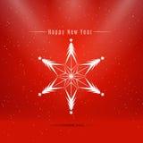 new snowflake winter year 免版税图库摄影