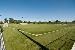 New Soccer Field Stock Photography