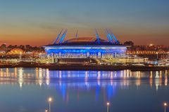 New soccer stadium on Krestovsky Island in St. Petersburg, Russi Stock Photo
