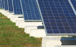 New Solar panel collector royalty free stock image