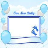 New Son Balloon Up Stock Photography