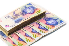 New South African 100 Rand notes Royalty Free Stock Images