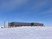New South Pole Station. The New South Pole Station is the third station to be located at the South Pole. In 2009 it officially replaced The Dome Station that was stock photography
