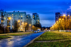 New and soviet era block apartment buildings Stock Images