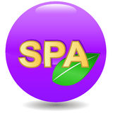 New spa icon Royalty Free Stock Image