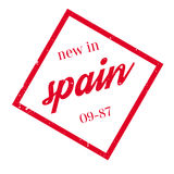 New In Spain rubber stamp Royalty Free Stock Image
