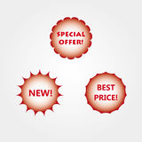 New special offer best price icons Royalty Free Stock Photos