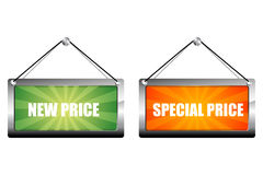 New and special price tags Royalty Free Stock Images