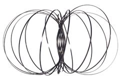 New Spiral craze made from Steel. Spiral metal game craze, wire made from steel and shaped like a sphere Stock Photography