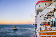 The New Spirit of Tasmania ship arriving at Port Melbourne Royalty Free Stock Images