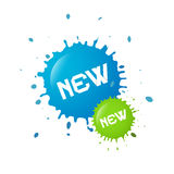 New Splashes, Blots Icon Royalty Free Stock Images
