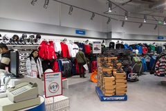 New sport store opening Royalty Free Stock Images