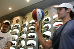 New sport store opening Stock Photography