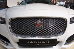 New sport utility vehicle Jaguar XF model at the Belgrade Motor Show Royalty Free Stock Photography
