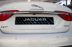 New sport utility vehicle Jaguar XF model at the Belgrade Motor Show Stock Photo