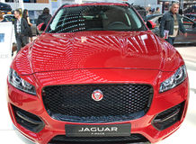 New sport utility vehicle SUV Jaguar F-PACE model at the Belgrade Motor Show Stock Photography