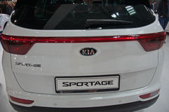 New sport utility vehicle SUV KIA SPORTAGE model at the Belgrade Motor Show Stock Photography