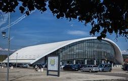 The new sports hall on September 25, 2020 in Targu-Jiu.