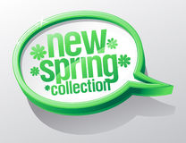 New spring collection speech bubble. Royalty Free Stock Images