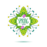 New spring offer colored label Royalty Free Stock Photography