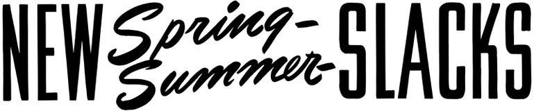 New Spring Summer Slacks Royalty Free Stock Photo
