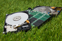 New SSD and a few old HDD Royalty Free Stock Photos