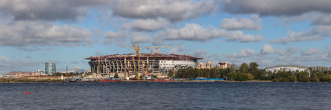 New stadium in Sankt-Peterburg Royalty Free Stock Photography