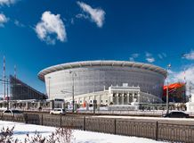 New stadium for the 2018 world championship. Yekaterinburg, Russia March 09, 2018. The construction of the new stadium for the 2018 world championship football Stock Images