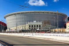 New stadium for the 2018 world championship. Yekaterinburg, Russia March 09, 2018. The construction of the new stadium for the 2018 world championship football Stock Photography